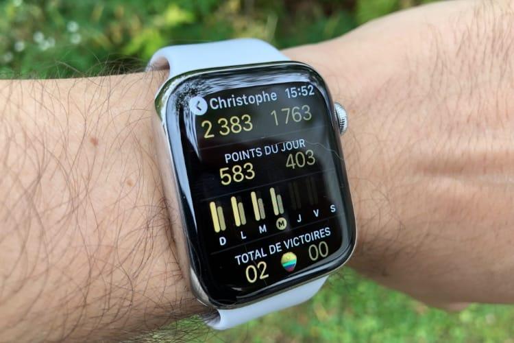 Astuce watchOS 5 : lancer et gagner un défi Activité