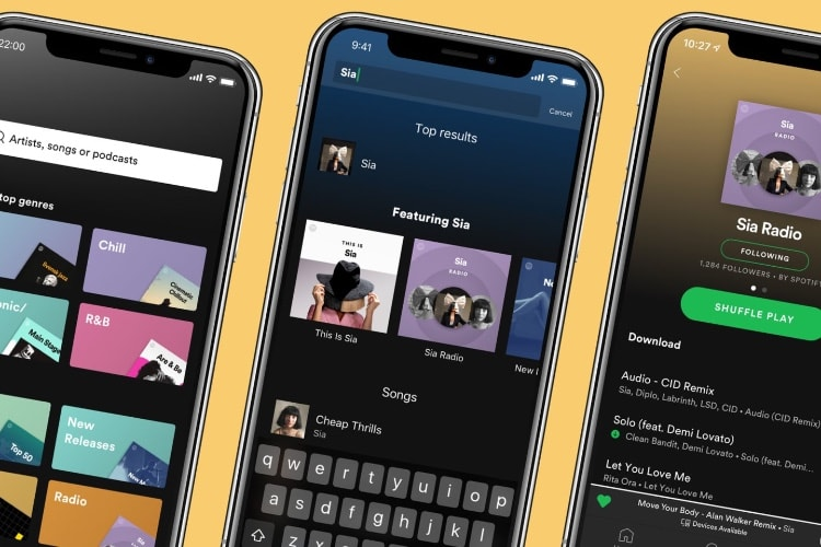 Spotify Premium: radios hors ligne et navigation revue