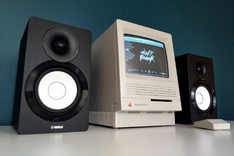 Un Mac SE/30 comme lecteur Spotify