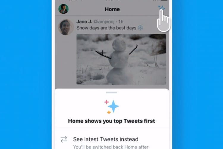 Twitter ajoute une option pour revenir à la timeline chronologique