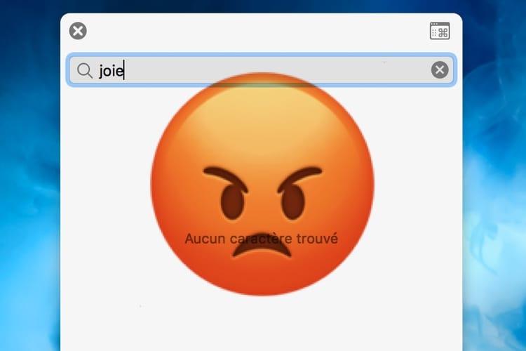 Le moteur de recherche d'emojis d'Apple est très mauvais 😡