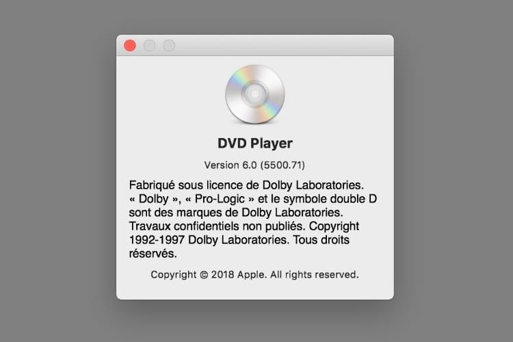 Incroyable: une mise à jour majeure du lecteur DVD dans macOS Mojave