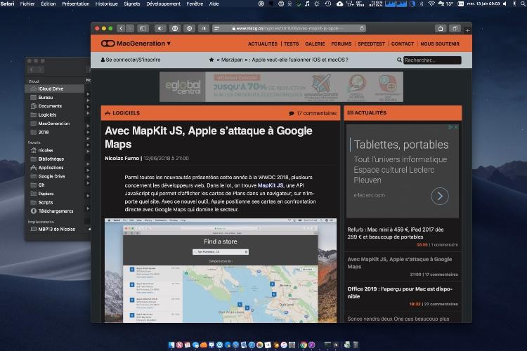 Dark Mode, une extension Safari parfaite pour le mode sombre de macOS Mojave
