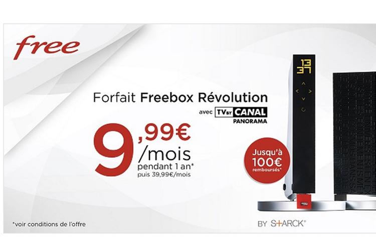 Promo: la Freebox Revolution à 10€ par mois pendant un an