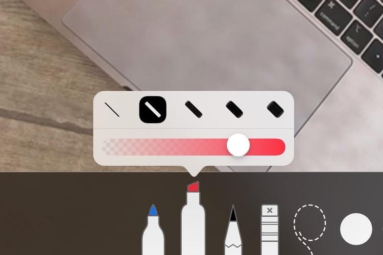iOS12 offre davantage d'options pour ses outils de dessin