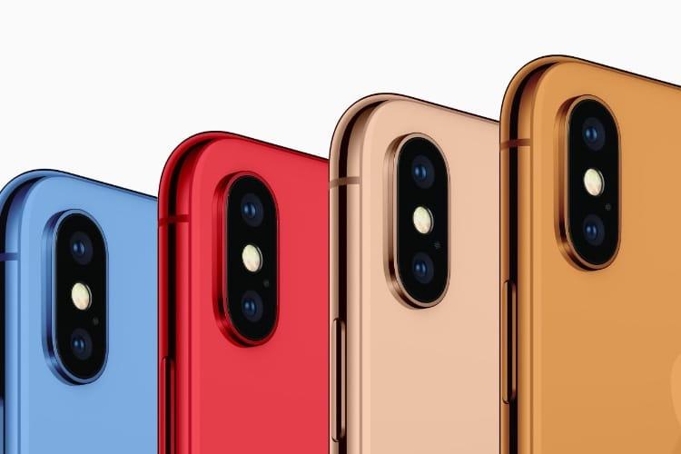 La gamme 2018 de l'iPhone en verrait de toutes les couleurs