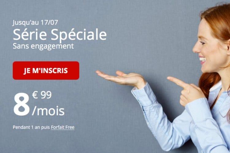 50 Go pour 8,99€ : le nouveau forfait «série spéciale» de Free Mobile