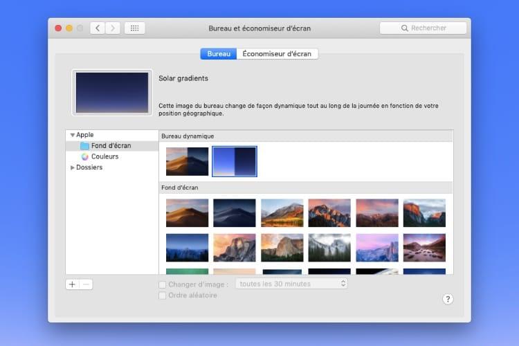 Un nouveau fond d'écran dynamique dans macOS Mojave !
