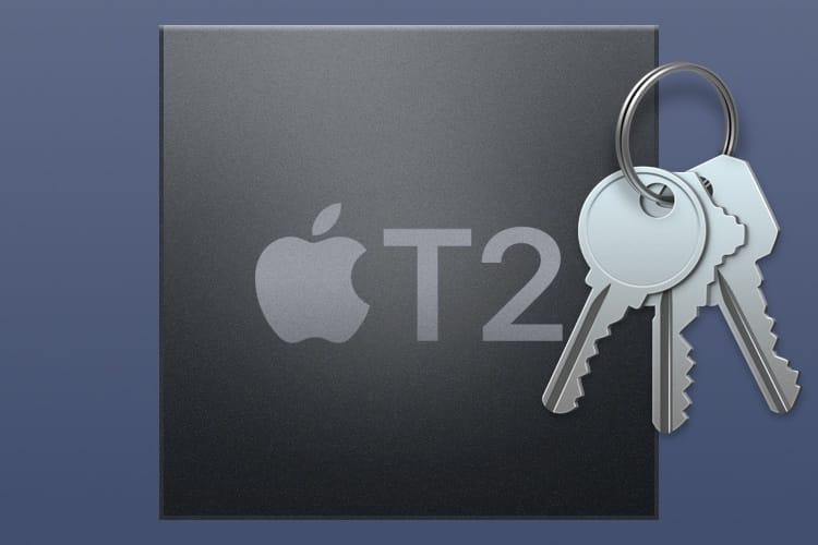 MacBook Pro 2018 : pour Trousseaux d'accès, la puce T2 appuie sur le turbo
