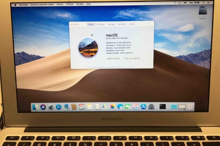Le travail a commencé pour installer Mojave sur les anciens Mac
