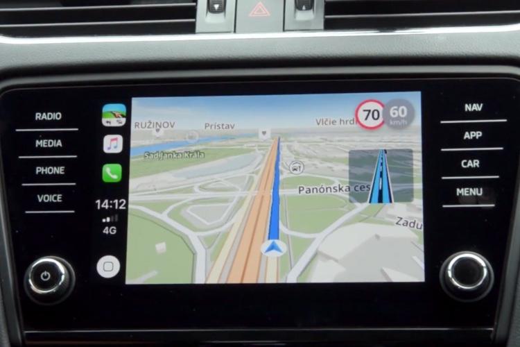Sygic présente son GPS dans CarPlay en vidéo