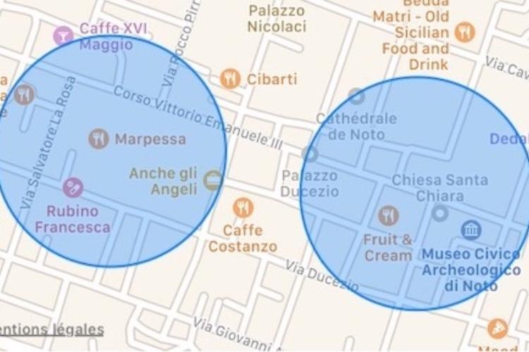 iOS 12 indique si vous êtes allé ici ou là en voiture ou à pied