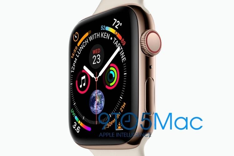 Voici apparemment l'Apple Watch Series 4