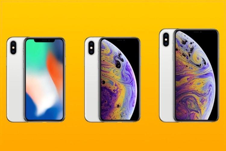 Les iPhoneXS comparés à l'iPhoneX