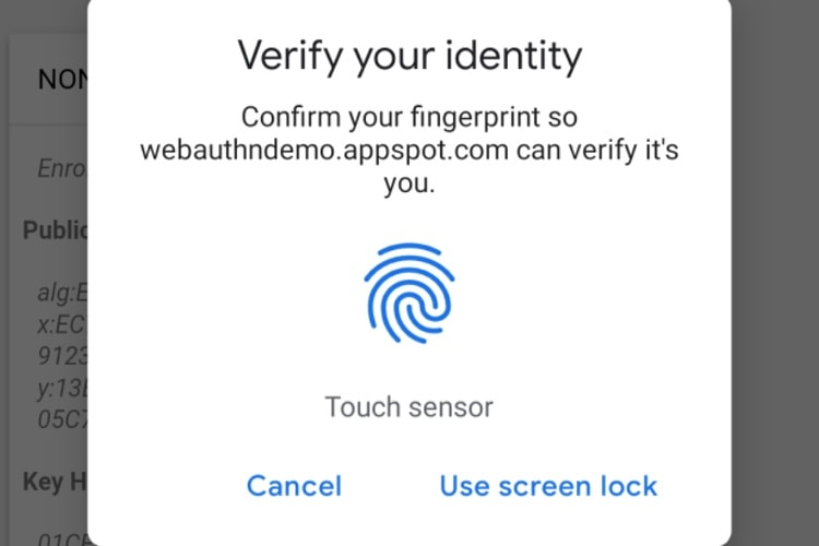 Chrome 70 prend en charge le Touch ID des MacBook Pro