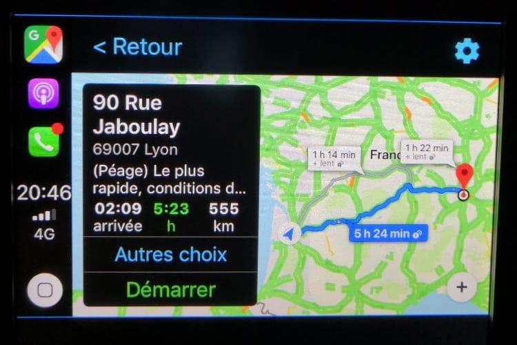 Google Maps est maintenant compatible CarPlay pour tous