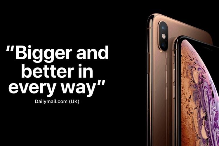 Les tests des iPhone XS sont très positifs, selon Apple