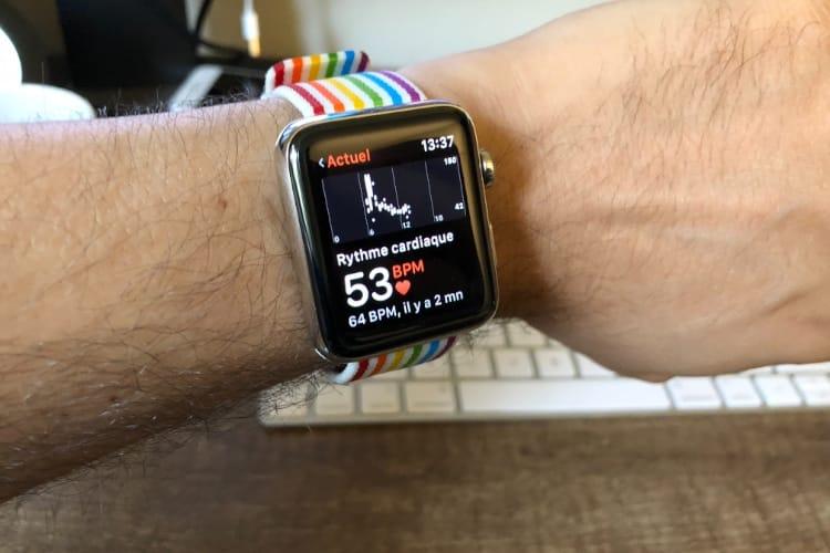 L'alerte de rythme cardiaque trop faible disponible dans watchOS 5