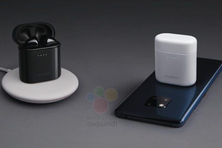Les clones d'AirPods de Huawei se rechargent en les posant sur le Mate 20 Pro